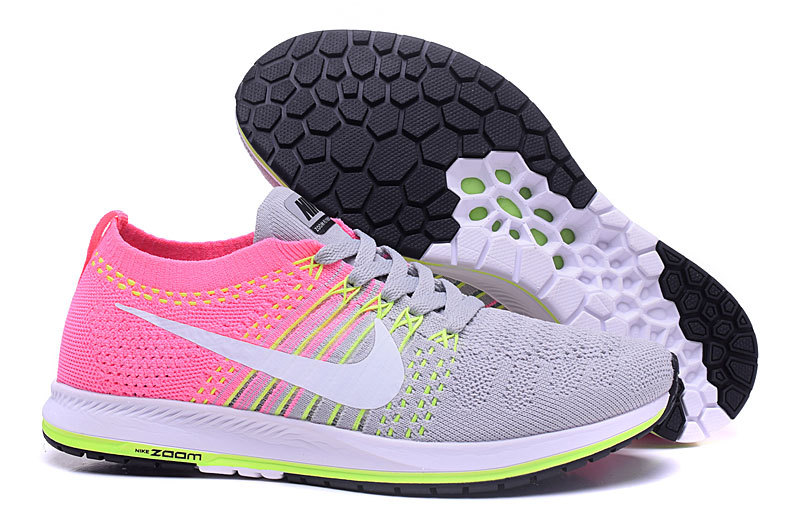 2017 air zoom flyknit,air zoom flyknit gris et rose femme